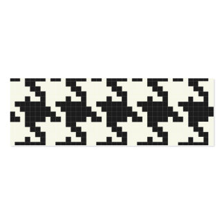 Hounds Tooth Pixel-Textured Business Card