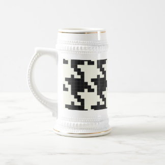 Hounds Tooth Pixel-Textured Mugs