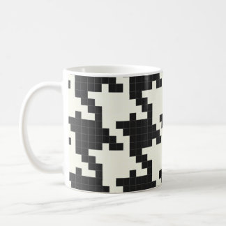 Hounds Tooth Pixel-Textured Coffee Mug