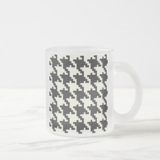 Hounds Tooth Pixel-Textured Coffee Mugs