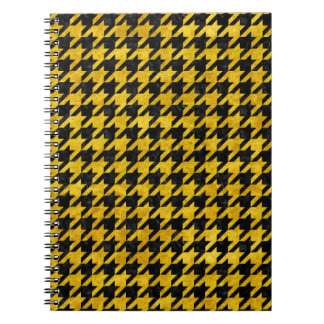 HOUNDSTOOTH1 BLACK MARBLE & YELLOW MARBLE NOTEBOOK