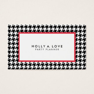 Houndstooth #2 | Black & White | Customisable Business Card