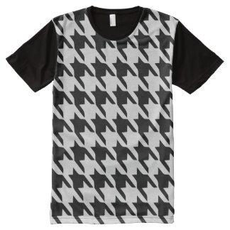 Houndstooth All-Over Print T-Shirt
