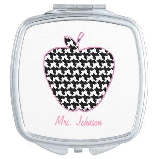 Houndstooth Apple Teacher Compact Mirror