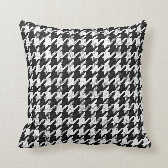 houndstooth black and white with red accent colour