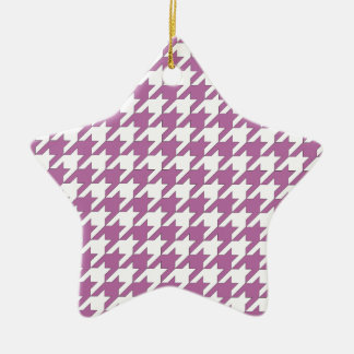 houndstooth bodacious and white ceramic star decoration
