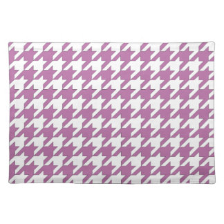 houndstooth bodacious and white place mat