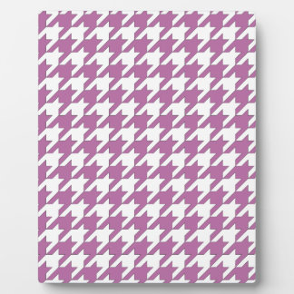 houndstooth bodacious and white plaque