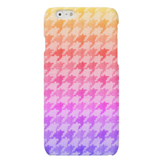 Houndstooth Bright Pink Lavender Ombre iPhone 6 Plus Case