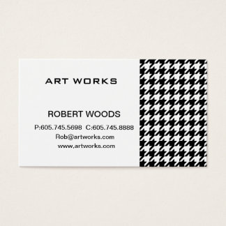houndstooth check pattern business card
