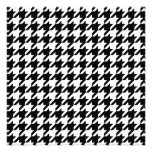 Houndstooth check pattern invitations