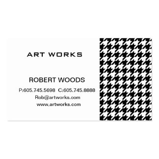 houndstooth check pattern pack of standard business cards