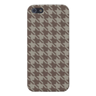 Houndstooth Checks Patten in Grey Browns iPhone 5/5S Cover