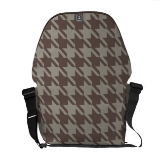 Houndstooth Checks Patten in Grey Browns Messenger Bags