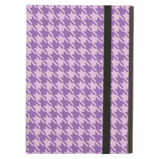 Houndstooth Checks Pattern in Shades of Purple iPad Air Cover