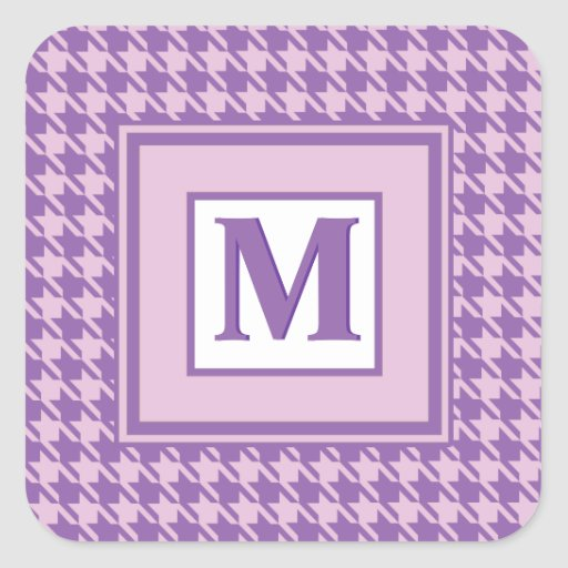 Houndstooth Checks Pattern in Shades of Purple Stickers