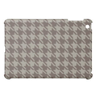 Houndstooth Checks Pern in Grey Browns Case For The iPad Mini