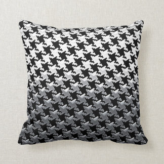 Houndstooth Chrome Mirror Style Cushion