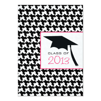 Houndstooth Class of 2013 Graduation Invitation