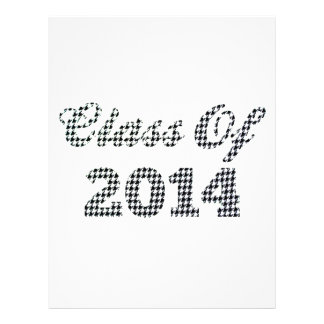 Houndstooth Class Of 2014 Personalized Flyer