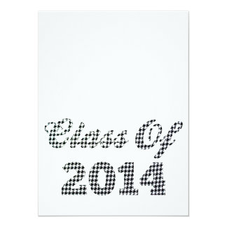 Houndstooth Class Of 2014 Personalized Announcements