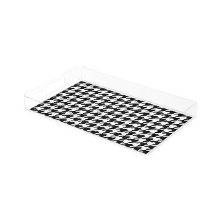 Houndstooth - Customize Background Color Acrylic Tray