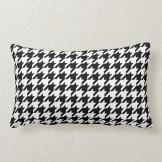 Houndstooth - Customize Background Color Lumbar Cushion