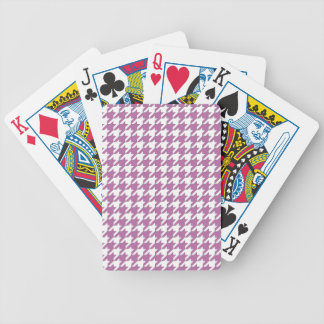 Houndstooth design in bodacious and white bicycle playing cards