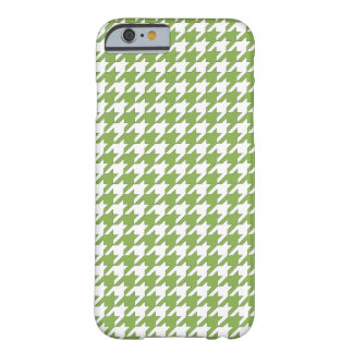 Houndstooth design in greenery and white barely there iPhone 6 case