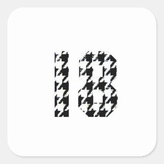 Houndstooth Eighteen Sticker