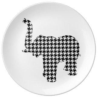 Houndstooth Elephant Plate