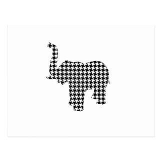 Houndstooth Elephant Postcard