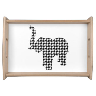 Houndstooth Elephant Serving Tray