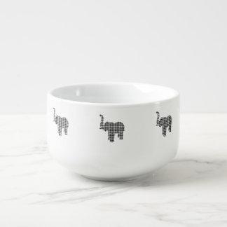 Houndstooth Elephant Soup Mug