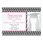 Houndstooth Graduation Photo Announcement