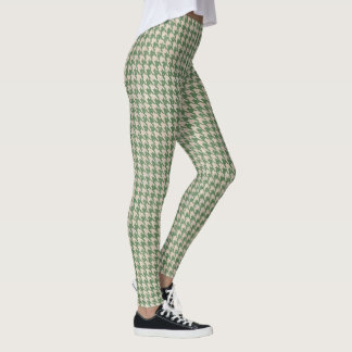 Houndstooth green Pattern Leggings