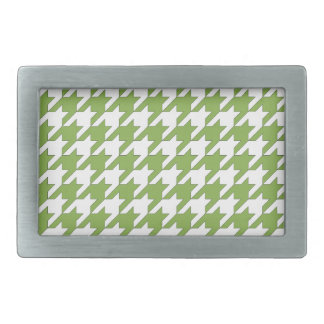 houndstooth greenery and white belt buckles