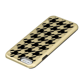 Houndstooth iPhone 6/6s Feather® Shine, Gold Incipio Feather® Shine iPhone 6 Case