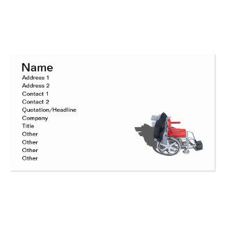 Houndstooth Jacket Wheelchair Business Cards