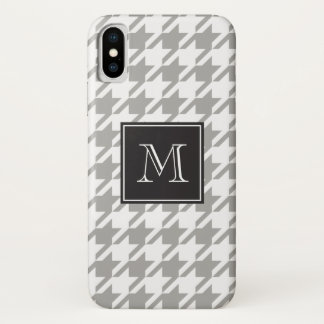 Houndstooth Monogram Choose Your Color iPhone X Case