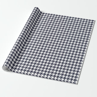 Houndstooth Navy Blue Wrapping Paper