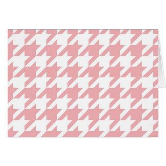 Houndstooth pastel pink pattern greeting card