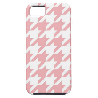 Houndstooth pastel pink pattern iPhone 5 cases