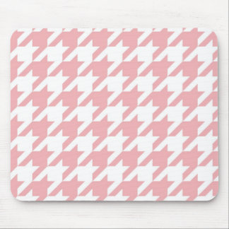 Houndstooth pastel pink pattern mouse mat