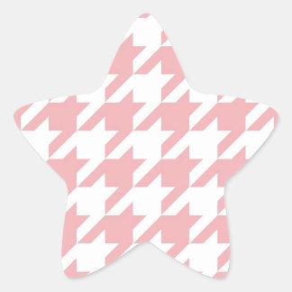 Houndstooth pastel pink pattern sticker