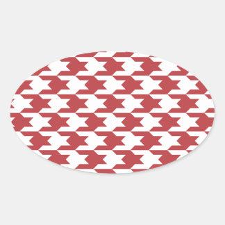 Houndstooth Pattern 1 Aurora Red Sticker