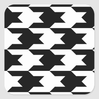 Houndstooth Pattern 1 Black and White Sticker