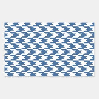 Houndstooth Pattern 1 Bright Cobalt Stickers