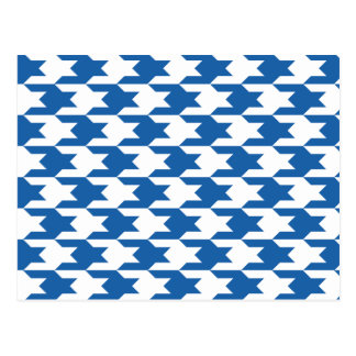 Houndstooth Pattern 1 Dazzling Blue Postcard