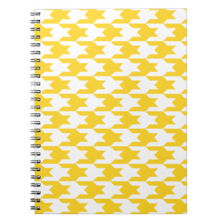 Houndstooth Pattern 1 Freesia Spiral Notebooks
